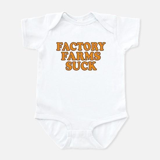Factory Farms Suck Infant Bodysuit