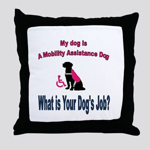 I'm a mobility assistance dog Throw Pillow