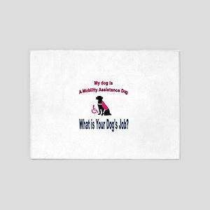 I'm a mobility assistance dog 5'x7'Area Rug