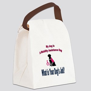 I'm a mobility assistance dog Canvas Lunch Bag