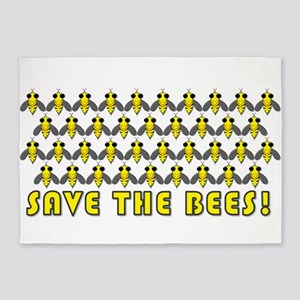 Save the Bees 5'x7'Area Rug