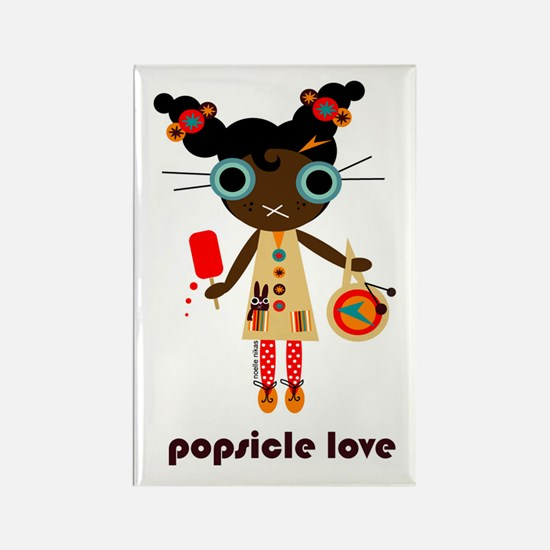 """popsicle love"" rectangle magnet"