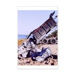 Dump Truck with Rocks -Poster Print -11