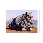 Cement Mixer Truck - Poster Print 15.25