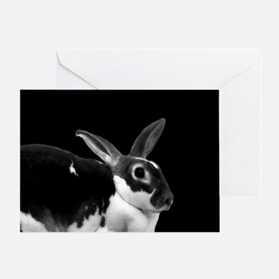 Black & White Rex Greeting Card