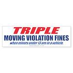 Triple Fines (Bumper Sticker 50 pk)