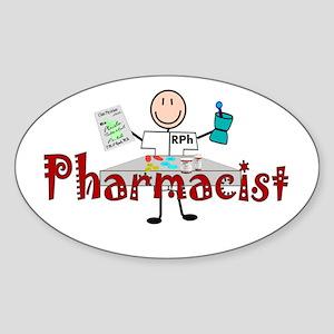pharmacists II Oval Sticker