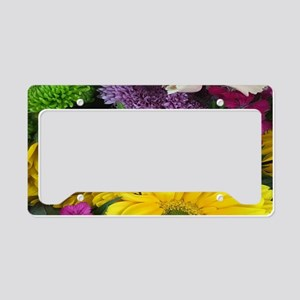 Mixed Flowers License Plate Holder