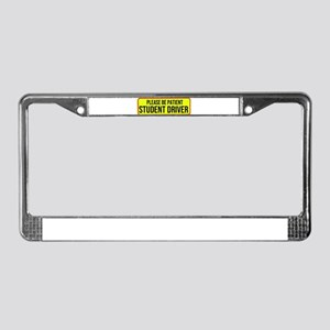 Please Be Patient, Student Dri License Plate Frame