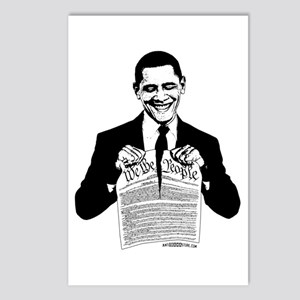 Obama Destroying Constitution Postcards (Package o