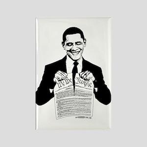 Obama Destroying Constitution Rectangle Magnet