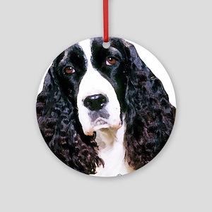 springer spaniel portrait Ornament (Round)