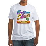 Add Your Message To A Custom Fitted T-Shirt