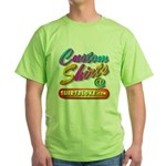 Add Your Message To A Custom Green T-Shirt