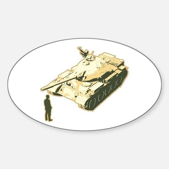 Tienanmen Tank Man Oval Decal