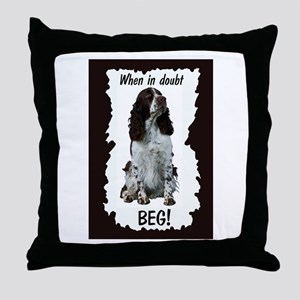 springer spaniel beg Throw Pillow