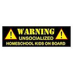 2-warning-black Bumper Sticker