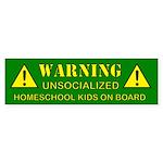 2-warning-green Bumper Sticker