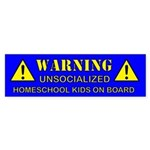 2-warning-blue Bumper Sticker