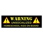 Unsocialized Bumper Sticker (Black)