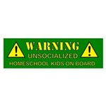 Unsocialized Bumper Sticker (Green)