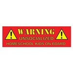 Unsocialized Bumper Sticker (Red)
