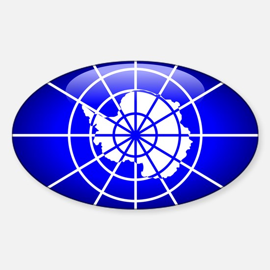 Antarctica Oval Decal
