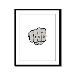 TKD Fist Framed Panel Print