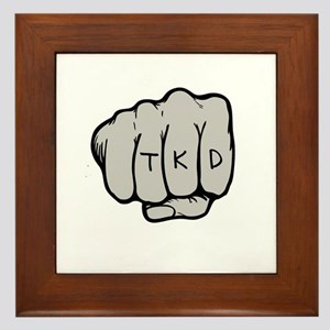 TKD Fist Framed Tile