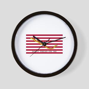 Naval Jack Flag - Don't Tread Wall Clock