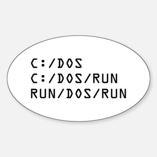 C DOS RUN Sticker (Oval)