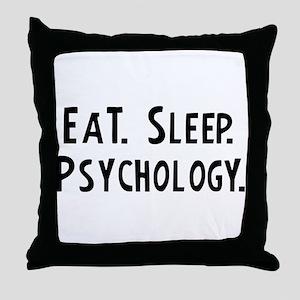 Eat, Sleep, Psychology Throw Pillow