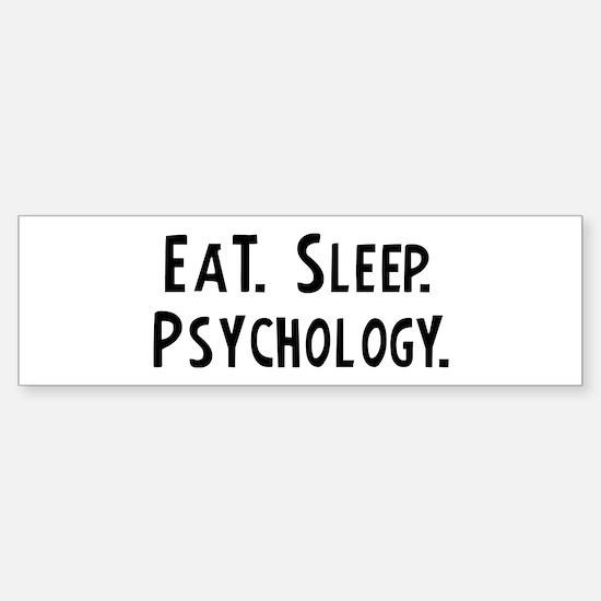 Eat, Sleep, Psychology Bumper Car Car Sticker