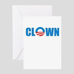 Anti Obama! Clown Greeting Card