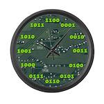 Binary LARGE Wall Clock
