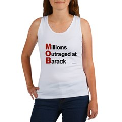 MOB: Millions Outraged at Barack Women's Tank Top