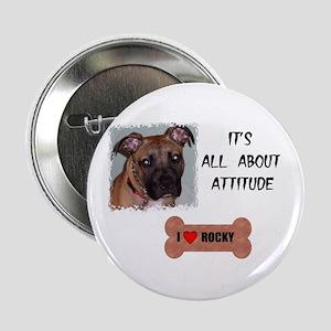 I LOVW ROCKY Button