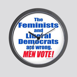 MEN VOTE Wall Clock