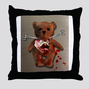 Autopsy of T. Bear Throw Pillow