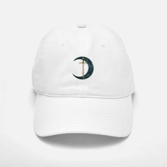 Colorful Celtic Moon and Swor Baseball Baseball Cap