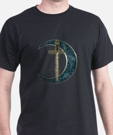 Colorful Celtic Moon and Swor T-Shirt