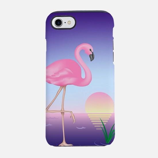 Pink Flamingo iPhone 7 Tough Case