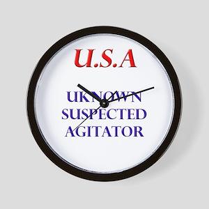 USA (unknown suspected agitat Wall Clock
