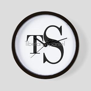 Tibetan Spaniel Logo Wall Clock