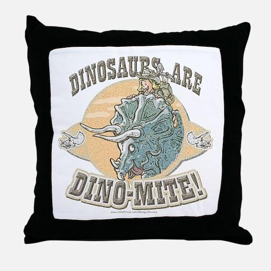 Girls Dinosaurs R Dino-Mite Throw Pillow