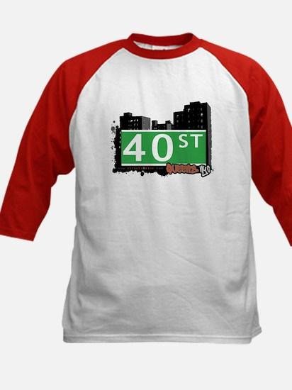 40 STREET, QUEENS, NYC Kids Baseball Jersey