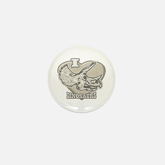 I Love Dinosaurs Mini Button