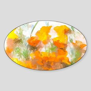 Sunrise Poppies Sticker