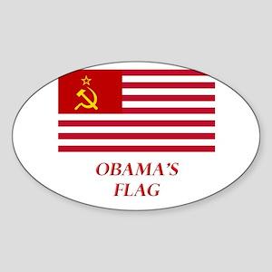 Obama's New Flag Oval Sticker