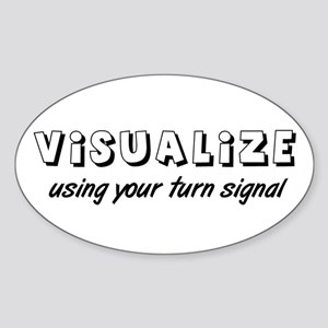Turn Signal Oval Sticker - Black